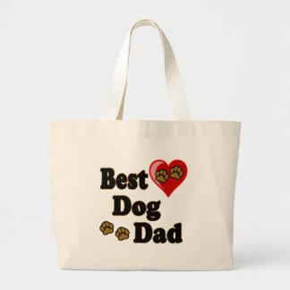 Best Dog Dad Merchandise Canvas Bag