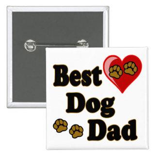 Best Dog Dad Merchandise Pins