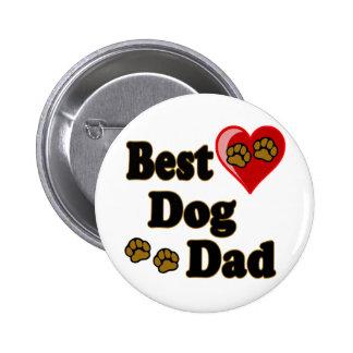 Best Dog Dad Merchandise Button