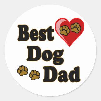 Best Dog Dad Merchandise Classic Round Sticker