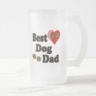 Best Dog Dad Merchandise Frosted Glass Beer Mug