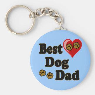 Best Dog Dad Merchandise Keychain