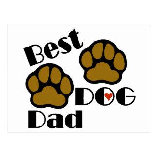 Best Dog Dad Merchandise Postcard