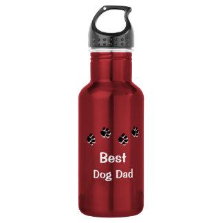 Best Dog Dad Water Bottle