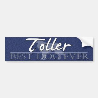 Best Dog Duck Toller Bumper Sticker