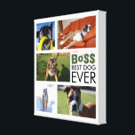 """Best Dog Ever Photo Collage Canvas<br><div class=""""desc"""">Best Dog Ever Photo Collage Canvas. Collect your favorite dog photos on a beautiful graphic design white canvas. Don&#39;t miss opportunity to get it!</div>"""