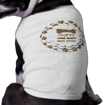 Best Dog Ever with Paws and Bone Custom Name A01 T-Shirt