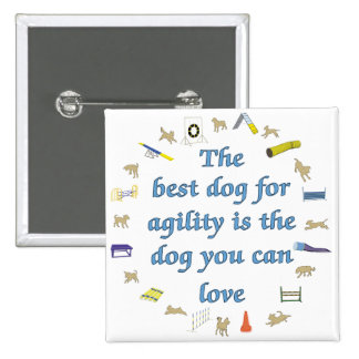 Best Dog For Agility Pinback Button