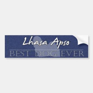 Best Dog Lhasa Apso Bumper Sticker