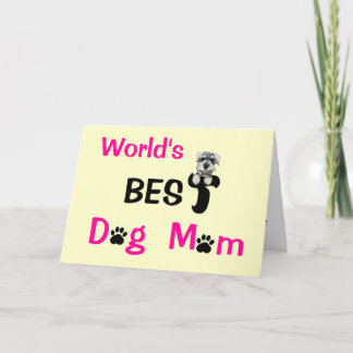 Best Dog Mom Card