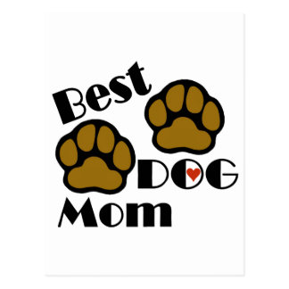 Best Dog Mom Card and Post Card with Dog Paws Postcard
