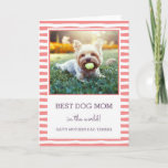 Best Dog Mom   Coral   Photo Mother's Day Card