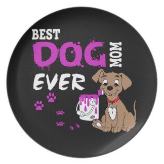 Best Dog Mom Ever Dinner Plate