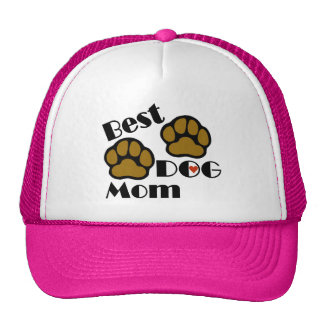 Best Dog Mom Hat with Dog Paws Merchandise