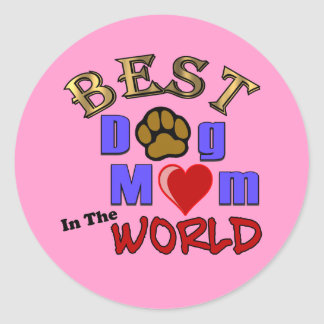 Best Dog Mom in the World Sticker