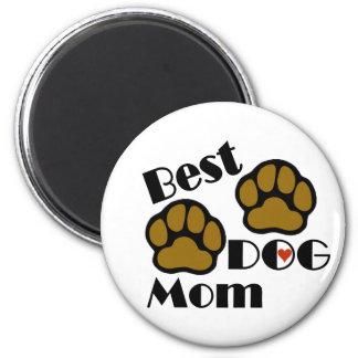 Best Dog Mom Magnet 2 Inch Round Magnet