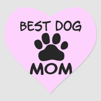 Best Dog Mom Shirts, Magnets, Buttons & More Heart Sticker