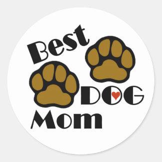 Best Dog Mom Sticker with Dog Paws Merchandise