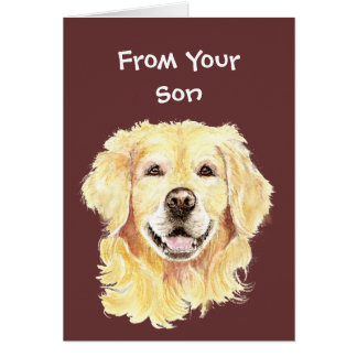 Best Doggone Birthday Dad Golden Retriever Dog Card