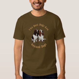 Best Dogs Are Rescued Basset Hound) T Shirt
