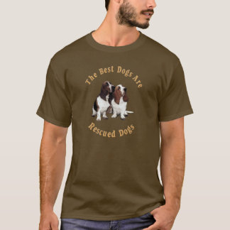 Best Dogs Are Rescued Basset Hound) T-Shirt