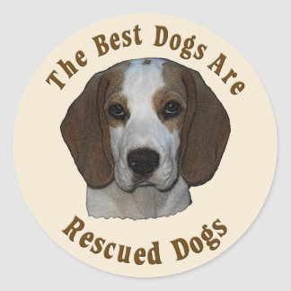 Best Dogs Are Rescued - Beagle Sticker