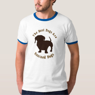 Best Dogs Are Rescued - Dachshund T-Shirt