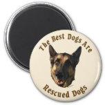 Best Dogs Are Rescued - German Shepherd Dog Refrigerator Magnet
