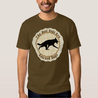 Best Dogs Are Rescued - German Shepherd Dog T-shirt