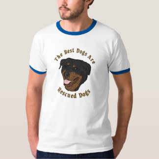 Best Dogs Are Rescued - Rottweiler T-Shirt