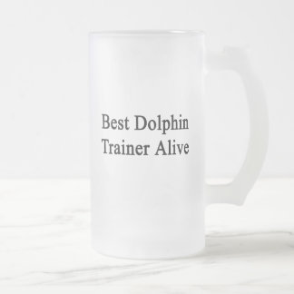 Best Dolphin Trainer Alive Beer Mugs