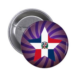 Best Dominican Republic Flag Design 2 Inch Round Button