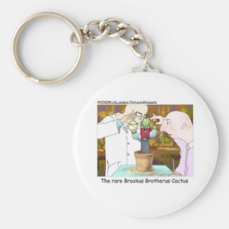 Best-Dressed Cactus Funny Gifts & Collectibles Basic Round Button Keychain