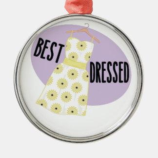 Best Dressed Metal Ornament