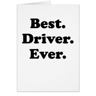 Best Driver Ever Card