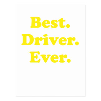 Best Driver Ever Postcard