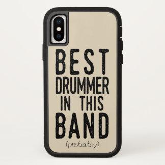Best Drummer (probably) (blk) iPhone X Case