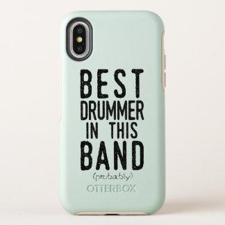 Best Drummer (probably) (blk) OtterBox Symmetry iPhone X Case