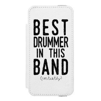 Best Drummer (probably) (blk) Wallet Case For iPhone SE/5/5s