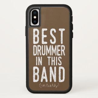 Best Drummer (probably) (wht) iPhone X Case