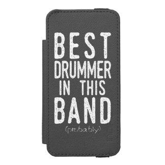 Best Drummer (probably) (wht) Wallet Case For iPhone SE/5/5s