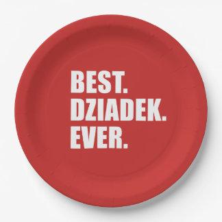 Best Dziadek Ever Polish Grandfather Party Paper Plate