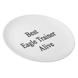 Best Eagle Trainer Alive Party Plate