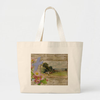 Best Easter Wishes Large Tote Bag
