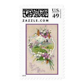 Best Easter Wishes Vintage Postage Stamp
