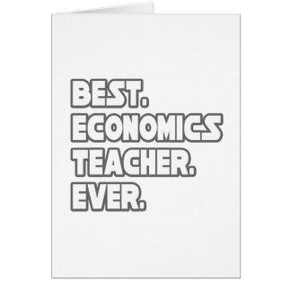 Best Economics Teacher Ever Card