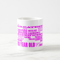 Best Eighty Five Girls Pink Greatest 85 Year Old Coffee Mug
