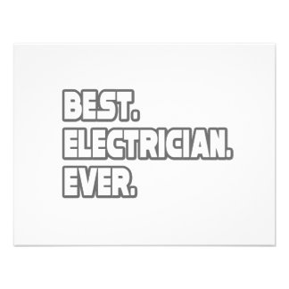Best Electrician Ever Custom Announcement