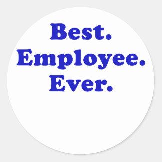 Best Employee Ever Classic Round Sticker