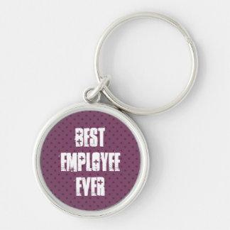 Best Employee Ever Keychain Grunge Design